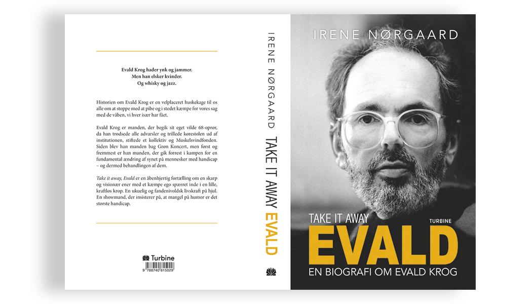 Evald biografi - sats og omslags design BogGrafisk