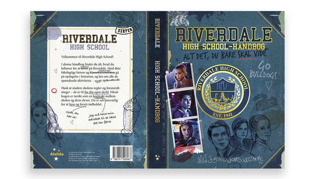 Riverdale håndbog coedition - dansk sats og omslags design BogGrafisk