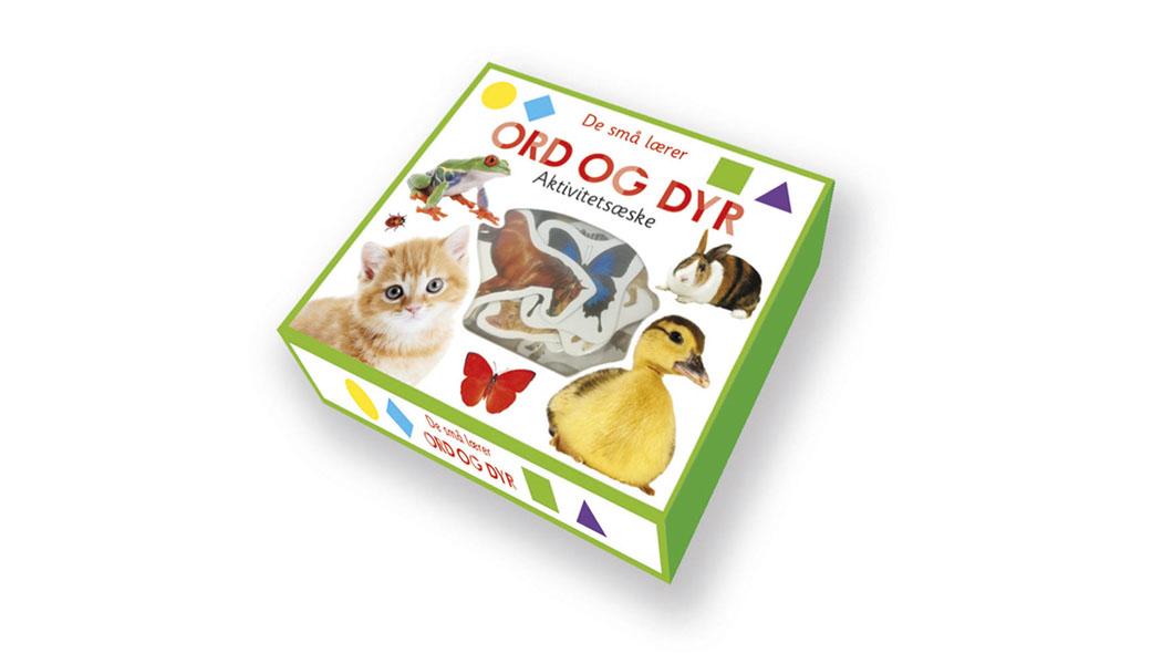 De små lærer - ord og dyr - aktivitetsæske - BogGrafisk